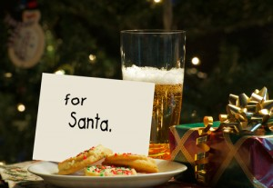Santa likes beer too.