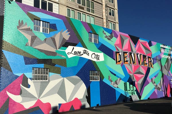 Love this City Mural in RiNo - Part of Denver Microbrew Tour