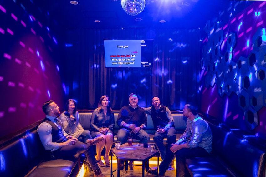 Private Karaoke room at Voicebox Denver