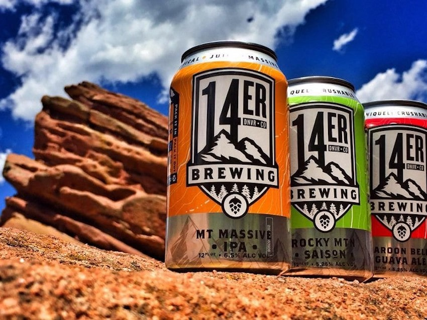 A couple of 14er Brewing Company's best selling beers
