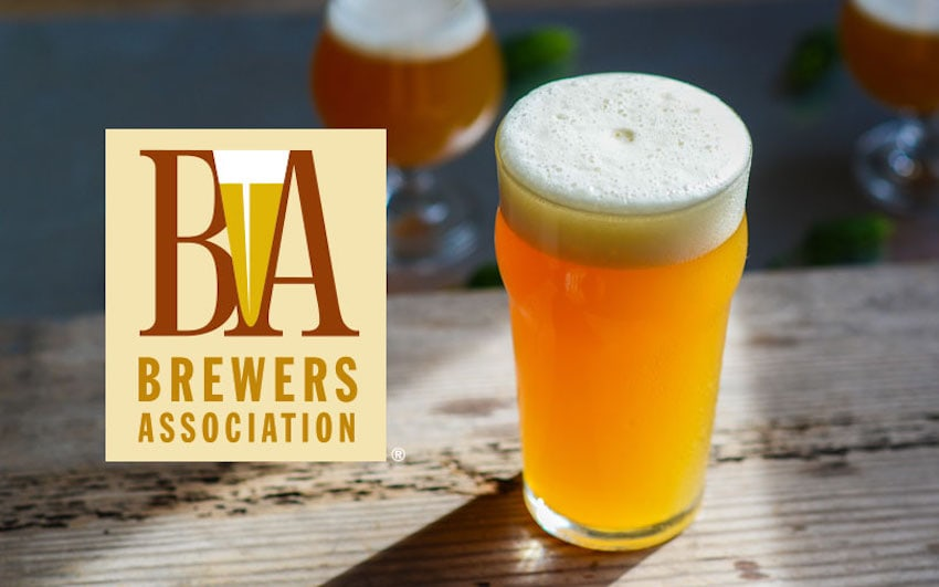 Brewers Association Logo with a Beer