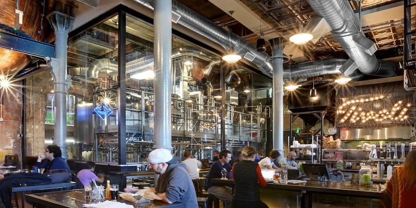 Tivoli Brewing Company's Main Taproom - Image courtesy RB+B Architects