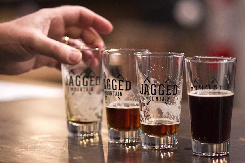 Some of Jagged Mountain's delicious beers